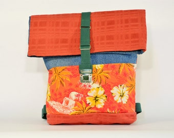 LUCKE PERRY backpack large / Upcycling bagpack