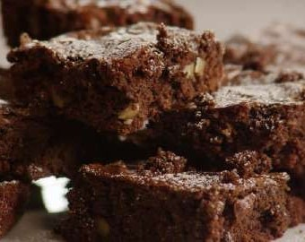 Brownies - Healthy Chocolate Pumpkin with without pecans walnuts - dairy grain gluten free -  paleo friendly coconut oil - raw organic cacao