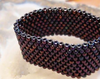 Irridesent Beaded Ring size 12 1/2