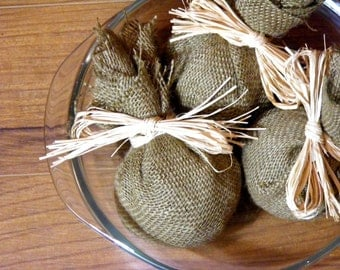 Scented Real Clove Burlap Pouches - Set of 3 Bags