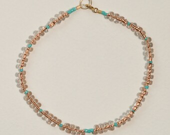 Turquoise Among Copper Drops Bracelet