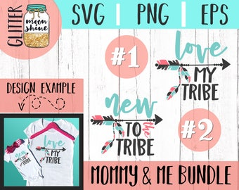 Tribe Mama & Baby Bundle svg eps dxf png Files for Cutting Machines Cameo Cricut, Mom Life, Mama Bear, Mother's Day, Boho, Tribal, Arrow svg
