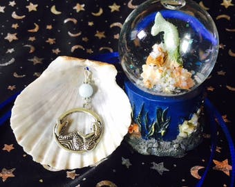Mermaid Scallop Shell Pendant