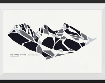 Three Sisters - Canmore, Alberta - Premium Mountain Print, Art Print, Wall Art, Mountains Canada