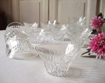 18 verrines Duralex way cut glass / glass cup / french Vintage / Cup dessert / snack bowl / dishes buffet reception