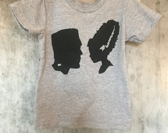 Frankenstein and Bride toddler tee baby horror scary