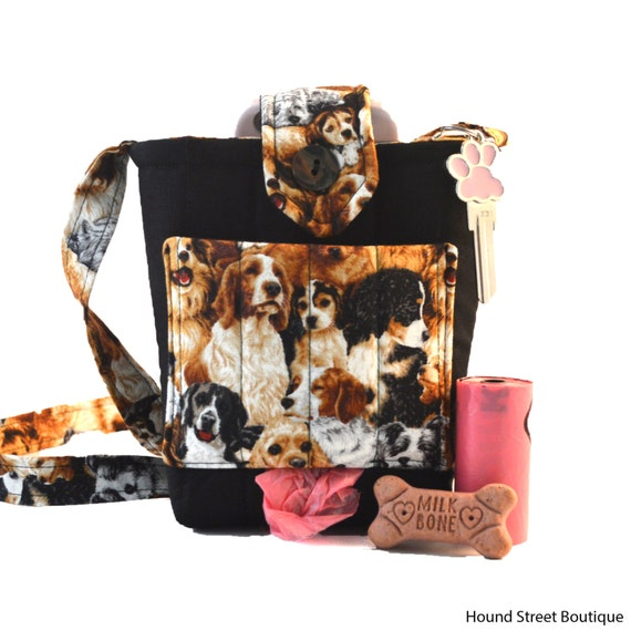 Dog Walking Crossbody With Dog Waste Bag Dispenser