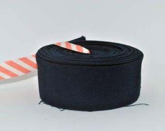 "Quilt Binding- Bella Solids - Navy - Moda 1.25"" double-fold cotton quilt binding - 7 yard roll"