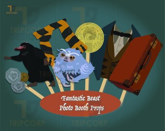 Fantastic Beast and Where to Find Them Photo Booth Props - Harry Potter