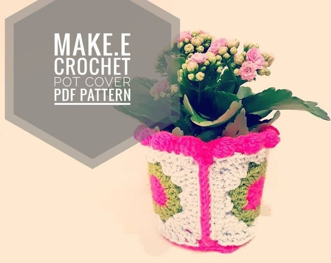 Make.E PDF Crochet Pot Holder Pattern