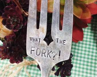 What the FORK?! Plant Marker // Stamped Fork Silverware