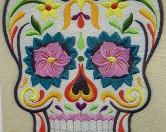 "Embroidered ""Sugar Skull"" Shirt"