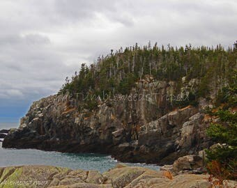 Rocky Ledge; cliffs; quoddy head light; maine photography; nautical; ocean; housewarming gifts; gifts from maine
