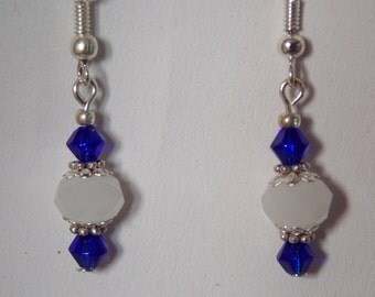 Ear in glass bead earrings