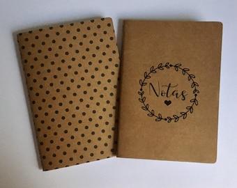 Notebooks kraft A6