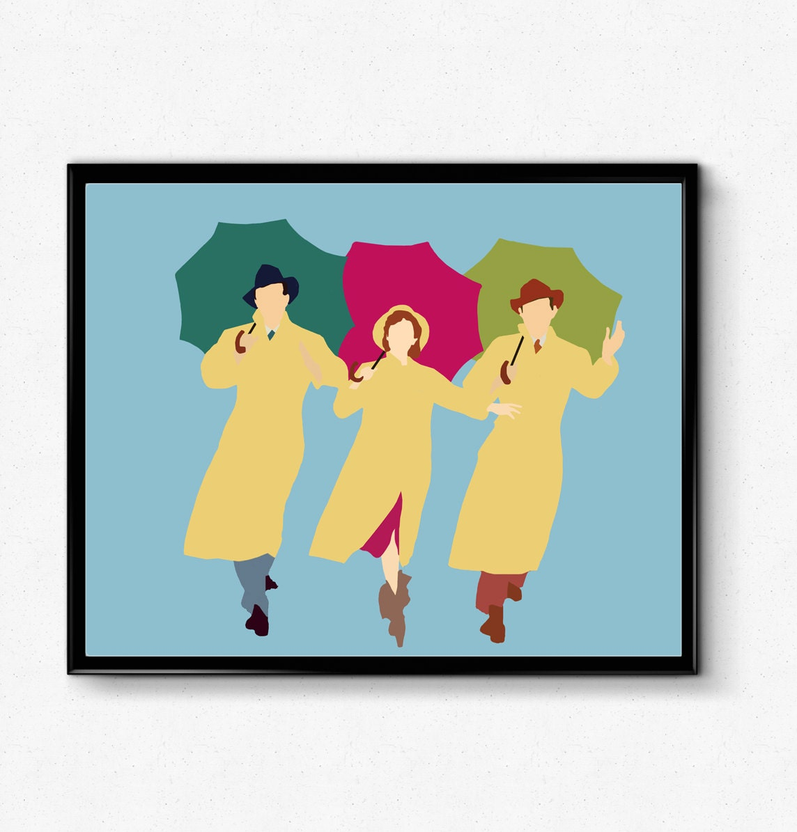 singing in the rain poster debbie reynolds poster minimalist