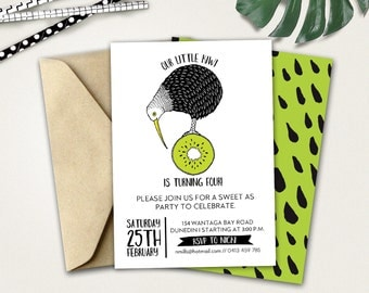 Little Kiwi Birthday Invitation