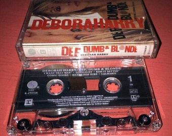 Deborah Harry (lead singer of Blondie) Def, Dumb & Blonde Cassette Tape