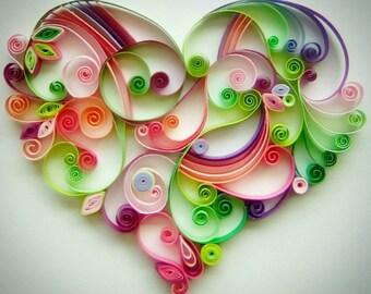 "Quilling paper art design: ""Sweetest Love"""