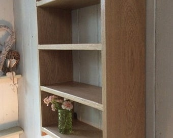 4 Shelf With 10 Inch Spaces Solid Oak Wall Mounted Rack Book Shelf