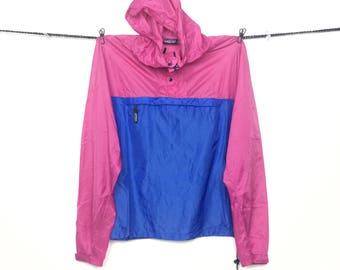 Vintage Patagonia Color Block Windbreaker | Vintage Patagonia Blue Pink  Neon Sweater | Vintage 80s Patagonia Lightweight Nylon