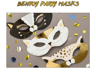 Bentoy Party Masks Set of 3 // Party Baby Shower Party Birthday Birthday Event Photo Booth Props