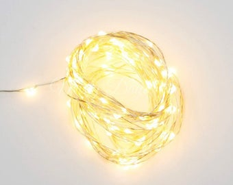 Silver Wire Fairy Lights, 5 & 10 meters, Warm White Bulbs, White Bulbs,USB Operated, Wedding Lights,Decor Lights,Backdrop Lights,Home decors