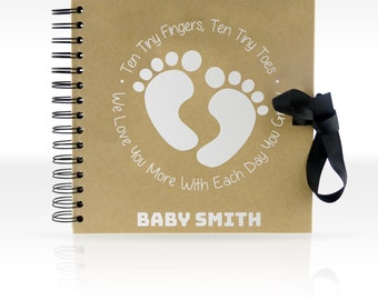 Personalised Scrapbook/ Photo Album 8x8 inches (NEW BABY)