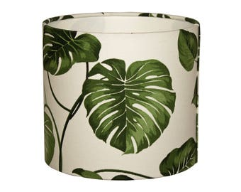Lampshade with leaf motif Monstera/Lampshade urban jungle
