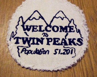 Twin Peaks Patch - Twin Peaks - David Lynch - Dale Cooper - Black Lodge - Distressed Patch - Handmade - Screen Printed