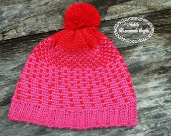PATTERN The Love Hat *crochet * optional to be a messy bun hat, beanie, pussycat hat, neck warmer
