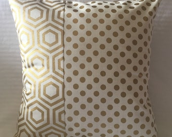 Gold metallic pillow cover