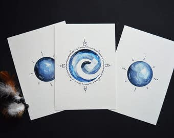 Air Element Postcards