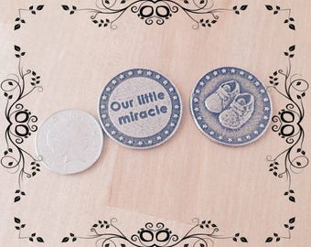 Our Little Miracle Pewter Baby Coin