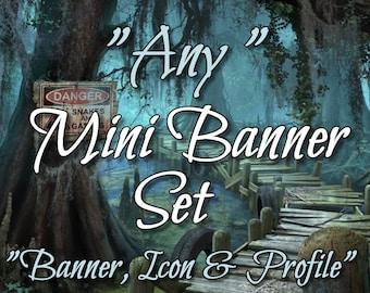 Mini Banner Set, Mini Banner, Shop Banner, Premade Banner, Shop Banner Set, Banner Template, Graphic Design, Custom Banner, Banner Design,