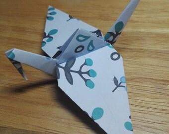 20 Origami Crane Wedding Favors / Baby Boy B1/5