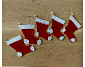 Five Christmas Stockings Felt Song
