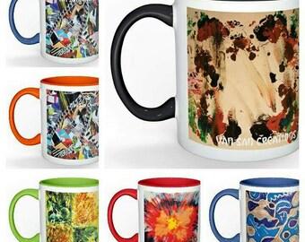 Mugs Collection Art love - box set of 6 mugs.