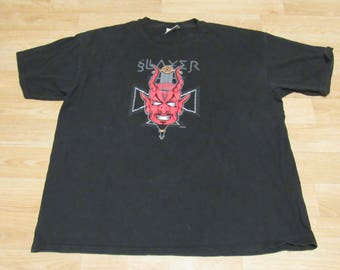 Vintage slayer diabolus in musica shirt 90s XL Devil