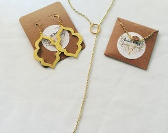 Simple gold everyday necklace