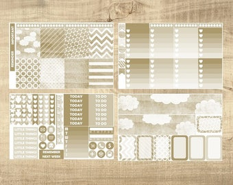 Nice & Neutral 4 Page Weekly Kit for Erin Condren Vertical LifePlanner