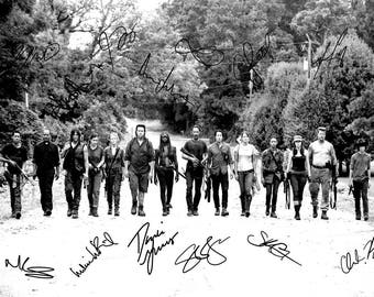 The Walking Dead cast pre signed photo print poster - 12x8 inches (30cm x 20cm) - N.0 3
