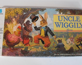 The Uncle Wiggily Game by Milton Bradley 1988    (929)
