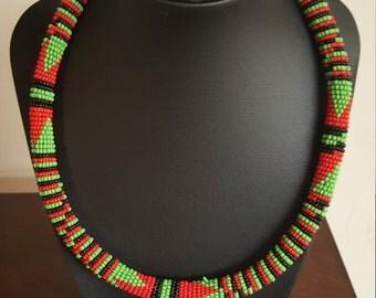 African Zulu  Beads Necklace.