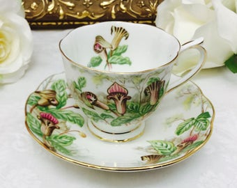 """Royal Albert """" Jack-in-a-pulpit"""" teacup and saucer."""