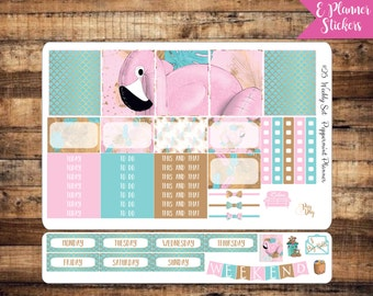 E Planner Flamingo Weekly Stickers {#25}