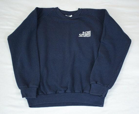 Vintage 70s CBS Sports crew neck sweatshirt Size L K-Brand TV 2lNLfFSH6