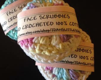 Face scrubbies, make-up remover pads, mini washcloth