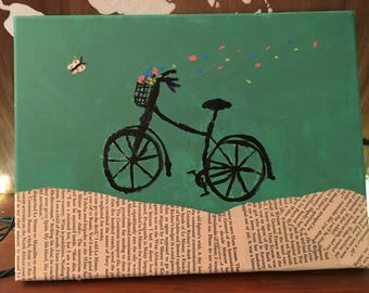 Whimsical Bicycle Painting