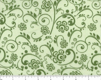 108 Quilt Backings Green Soft Paisley -JUST IN!!!!